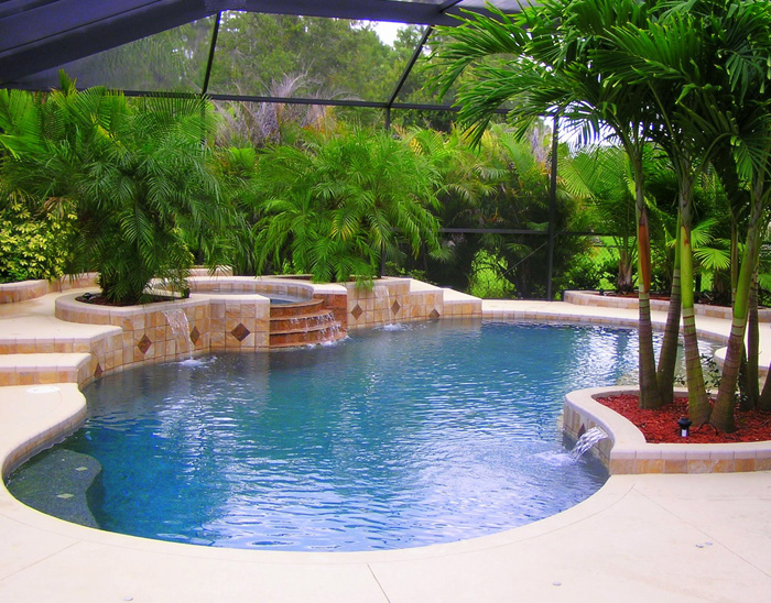 Swimming pool photos of in home swimming pools for Best home pool designs