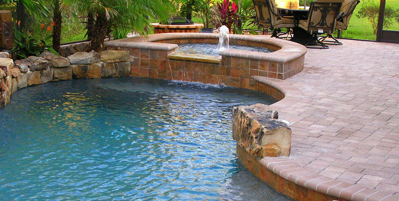 Cool water pools and spas inc photo gallery slideshow for Swimming pool builders