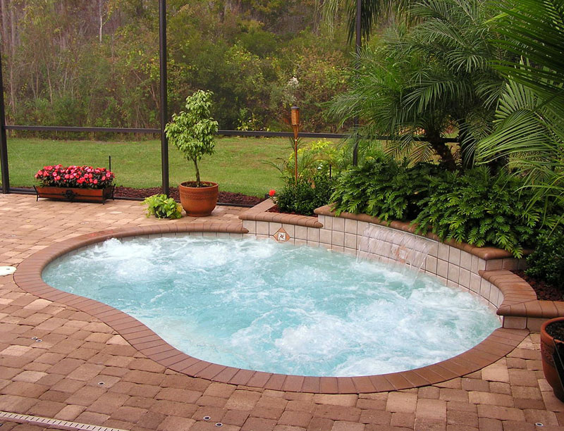 inground pools with waterfalls and hot tubs. Swimming Pool Hot Tub Inground Pools With Waterfalls And Tubs :
