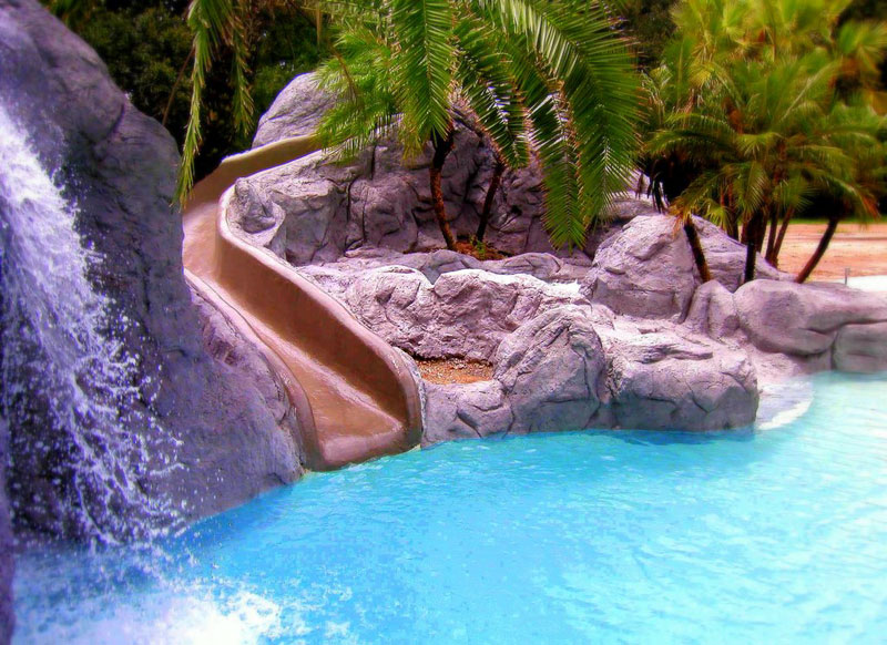 Swimming Pool Slides With Waterfall