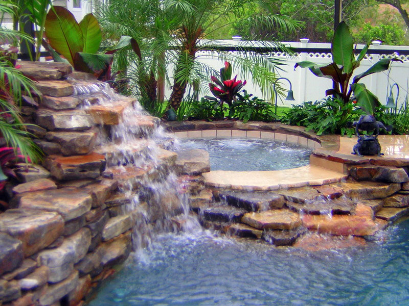 swiming pool waterfall - Swimming Pools With Waterfalls